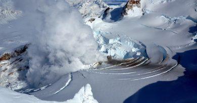 volcán glaciar